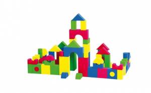 Set 32 cuburi buretate de constructie