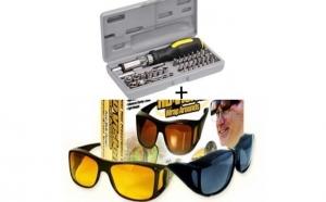Set 2 perechi ochelari + Kit Surubelnite