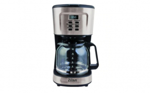 Cafetiera digitala ZILAN, 900 W, Capacitate max 12 Cesti, Timer Programabil, Rezervor Transparent Gradat 1,5 L, Sistem Anti-picurare, Negru