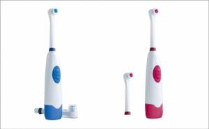 Periuta de dinti electrica cu 2 capete rotative si capac de protectie incluse