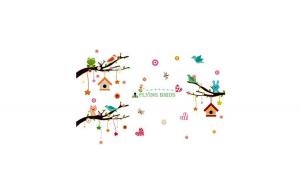 Sticker decorativ, Ramurele cu animale,