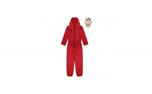 Costum si masca pentru adulti La Casa de Papel, marimea XXL, rosu