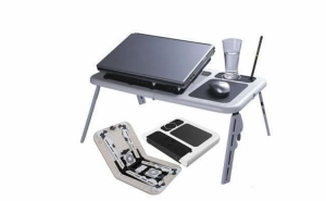 Masa laptop cu 2 coolere + suport pahar + mousepad