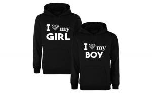 Set de hanorace I love GIRL/BOY COD SH601
