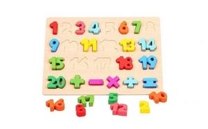 Puzzle 3D din lemn cu cifre, Totul pentru copilul tau, Jocuri de societate