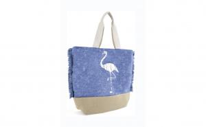 Geanta pentru plaja, cu flamingo