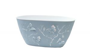 Jardiniera 3D mica 29 cm x 15 cm x 15 cm,albastra