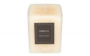 Lumanare parfumata, aroma vanilie, culoare bej