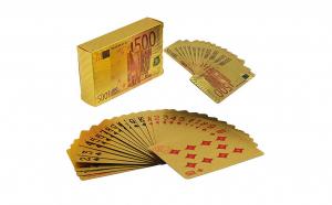 Carti de joc aurii, pachet a 52 carti + 2 jokeri, CJ2005