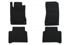 Set 4 covorase auto din mocheta, negru, compatibil cu compatibil cu MERCEDES E-Klasse (W211) E220-E500 03/2002-02/2009, T-Modell 03/2003-10/2009-