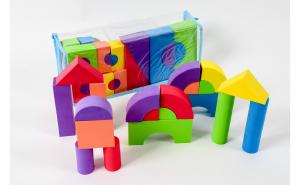 Set 52 cuburi din burete (spuma)