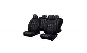 Huse scaune auto BMW E90/E91 Sport Negru-Albastru