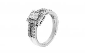 Inel din platina 900 cu diamante naturale, IAU329