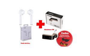 Casti wireless + modulator bluetooth + ochelari pentru condus