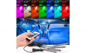 Kit  Iluminare Ambientala LED Interior Masina, Multicolor cu Telecomanda