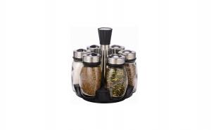 Set condimente - 7 buc, cu suport rotativ Grunberg, la 59 RON in loc de 139 RON