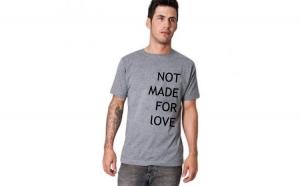 Tricou gri barbati - Not made for love