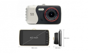 Camera Full HD 1080P G-SENZOR 4 INCH IPS + 170 DEGREE + SD card 16 GB cadou
