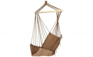 Hamac tip scaun/leagan din bumbac,lemn, greutate maxima 120 kg