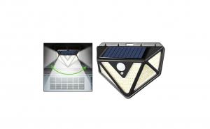 Lampa solara triunghiulara, cu senzor