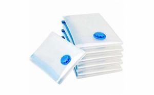 Set 10 saci pentru vidat haine, marime 60x80 cm, transparent
