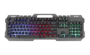 Tastatura gaming iluminata led, 12 taste multimedia, 104 taste, functie Anti-Ghosting, USB