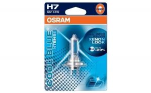 Bec auto cu halogen pentru far - Osram H7 Cool Blue Intense, up to 20%, 12V, 55W, 1 Buc