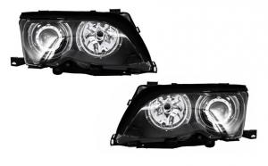 Set 2 faruri Angel Eyes compatibil cu BMW Seria 3 E46 (2001-2004) Black Edition