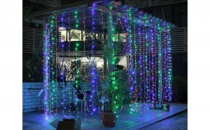 Instalatie tip ploaie de lumini, 3 x 3m, diverse culori