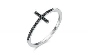 Inel fix din argint 925 Faith Cross