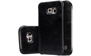 Husa Samsung Galaxy S6 Nillkin Qin Flip Negru