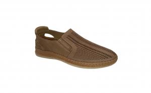 Pantofi usori din piele naturala perfora