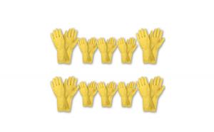 Set 10 Manusi din Latex pentru protectia mainilor, marimea L, M