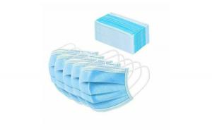 Cutie 50 bucati Masti Faciale de protectie, de unica folosinta, 3 Straturi, 3 pliuri, Albastre