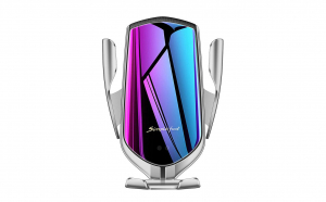 Suport telefon grila MRG L-R1, Smart Wireless, Fast Charge, Gri C373