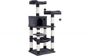 Arbore de pisica cu 2 platforme Gri
