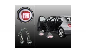 Proiectoare Portiere cu Logo Fiat