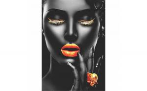 Tablou Canvas Gold Passion, 40 x 60 cm, 100% Bumbac