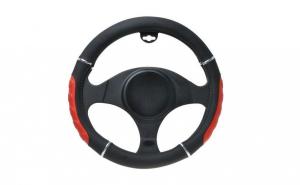 Husa volan negru+rosu 37-39 cm 6545