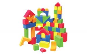 Set 105 cuburi din burete (spuma)