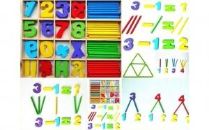 Joc Montessori cu cifre lemn - 72 piese