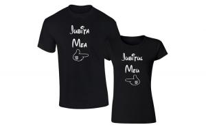 Set de tricouri negre Iubitul, Ziua indragostitilor, Voi doi