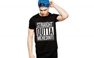 Tricou negru barbati - Straight Outta Mehedinti
