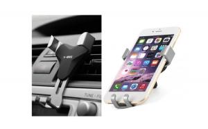 Suport auto universal V-MMS pentru telefoane - cu prindere in grila de aerisire