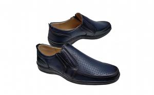 Pantofi perforati din piele naturala
