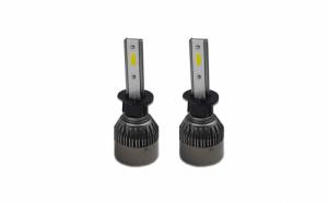 Set 2 becuri LED auto R6, 50W, 6000k