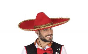 Palarie Mexican Rosu 110194