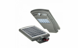 Proiector stradal cu panou solar lampa stradala 20w, senzor miscare si lumina