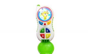 Telefon interactiv, educational pentru copii cu butoane care emit diverse melodii