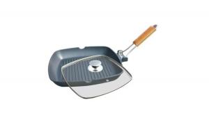 Tigaie grill aluminiu cu capac, Grunberg